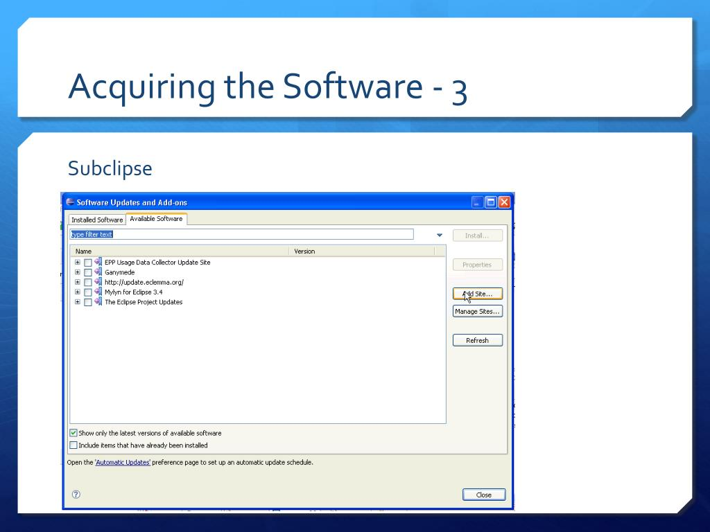 Acquiring the Software - 3