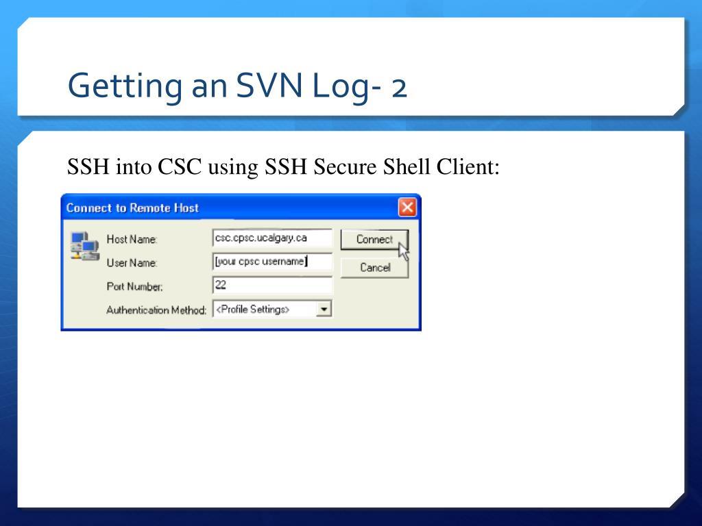 Getting an SVN Log- 2