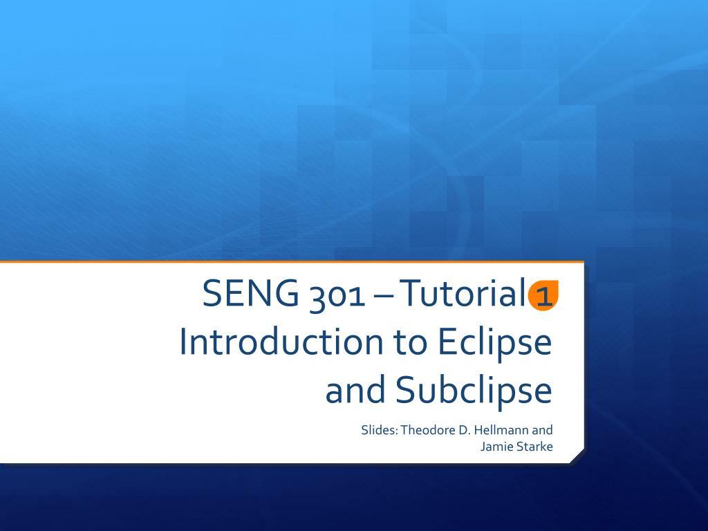 SENG 301 – Tutorial 1