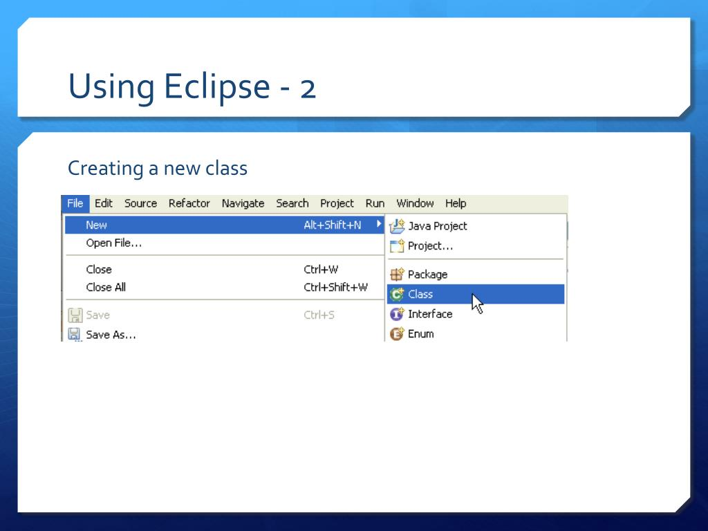 Using Eclipse - 2