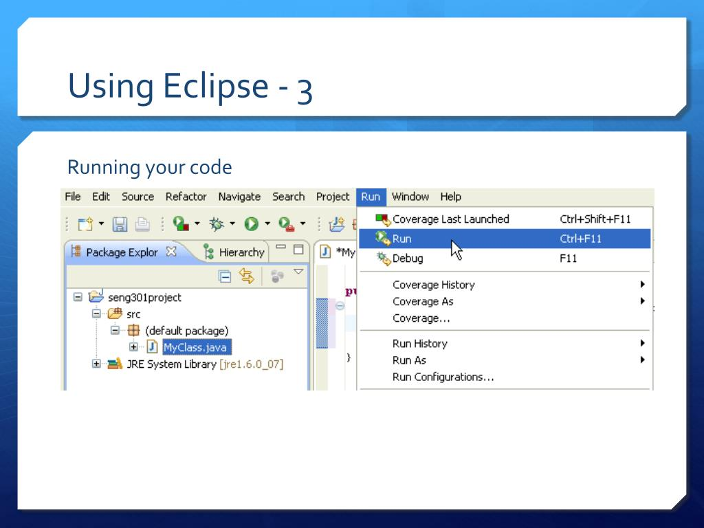 Using Eclipse - 3