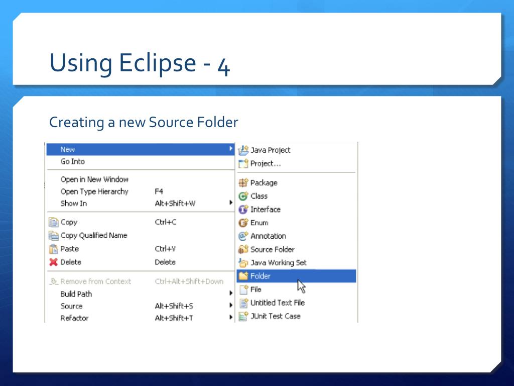 Using Eclipse - 4