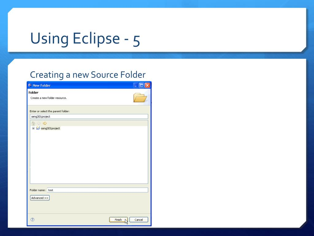 Using Eclipse - 5