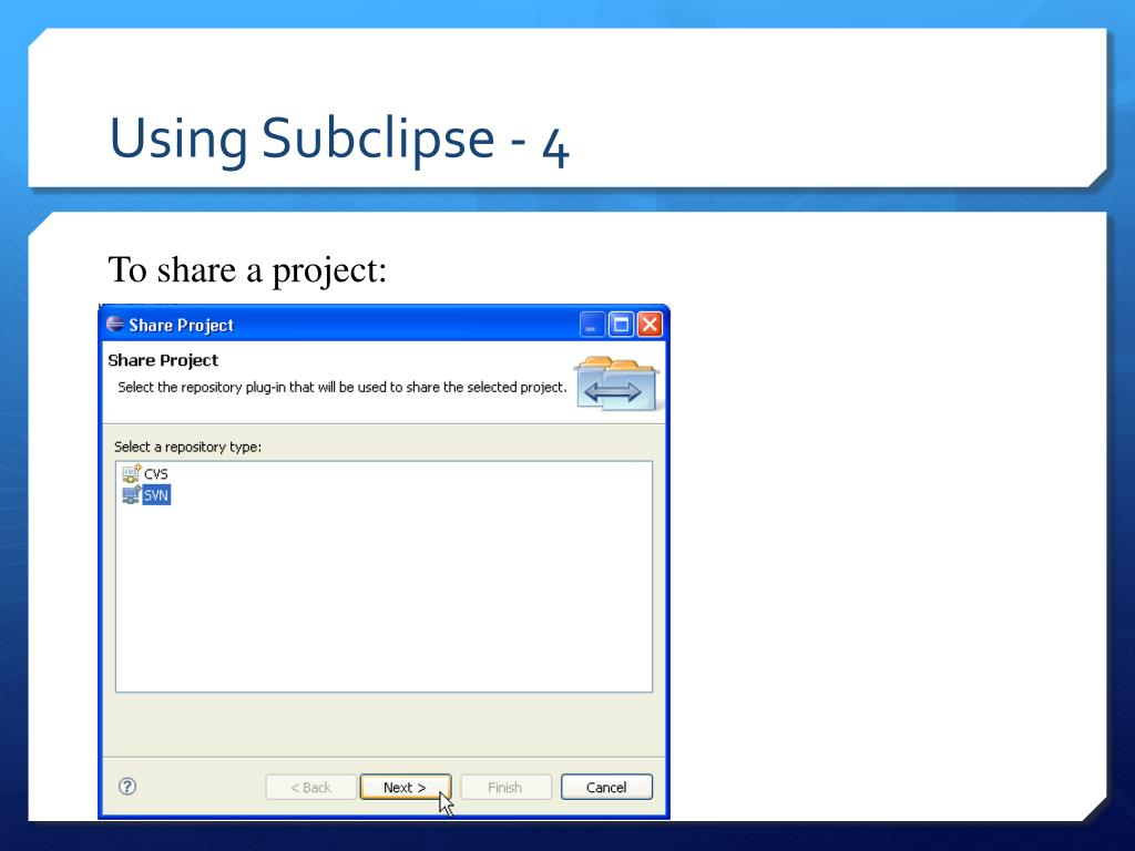 Using Subclipse - 4