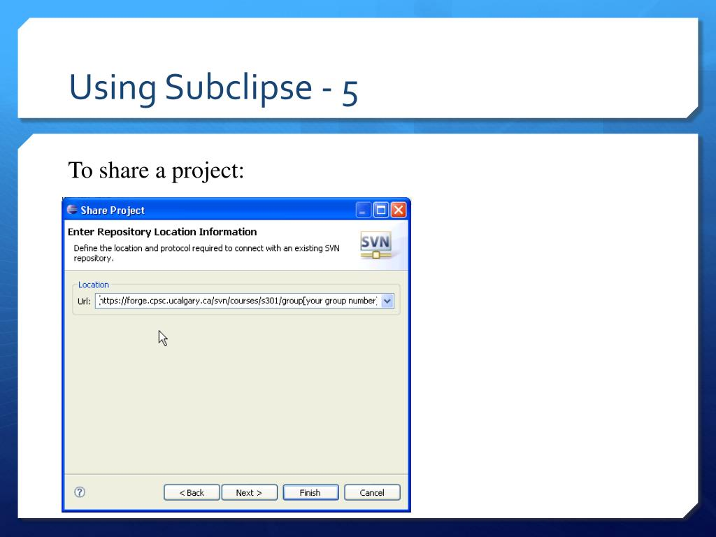 Using Subclipse - 5