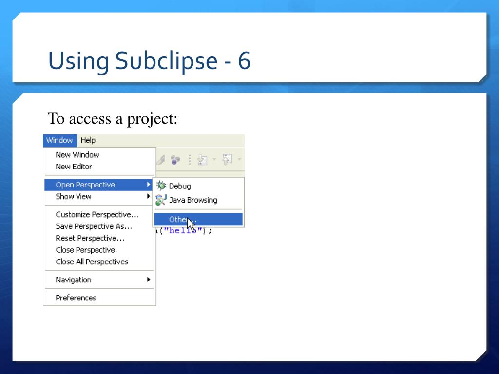 Using Subclipse - 6