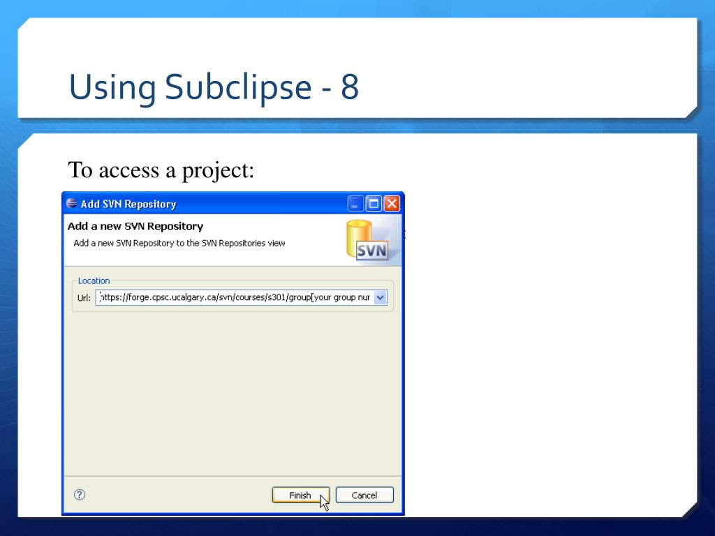 Using Subclipse - 8