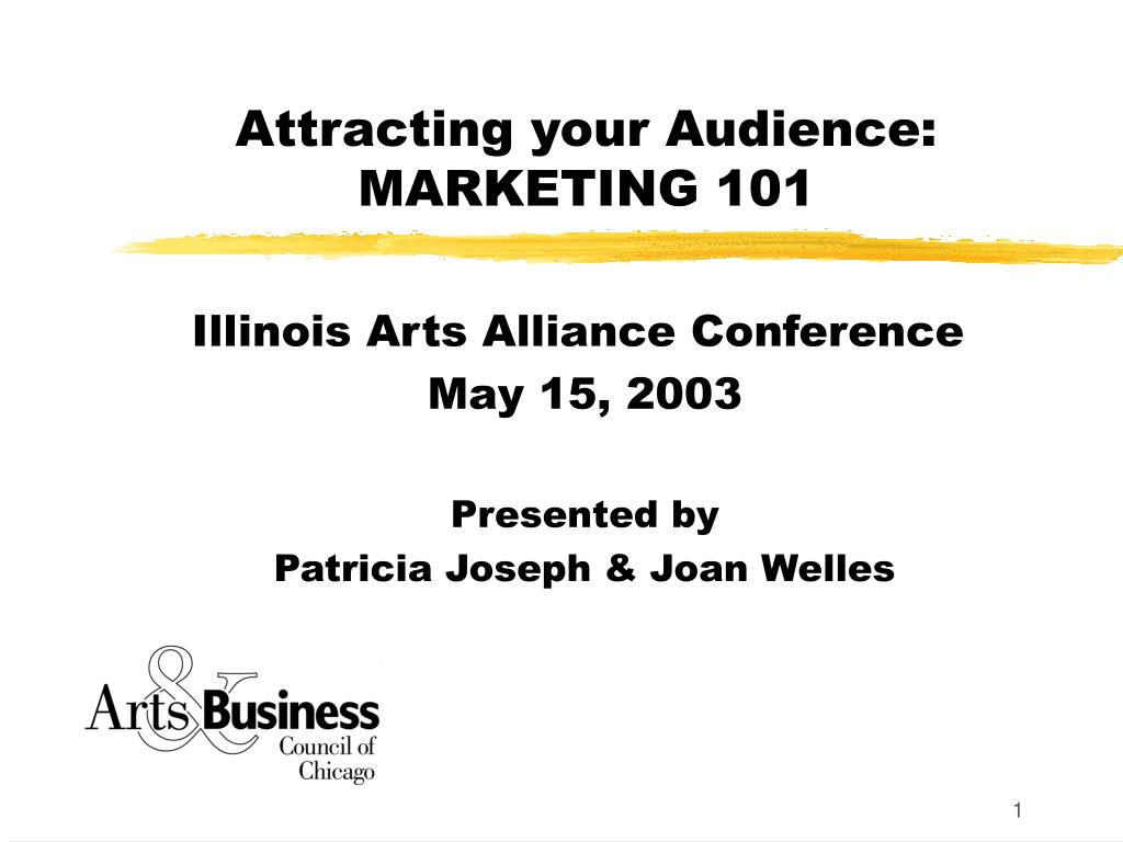 Attracting your Audience: MARKETING