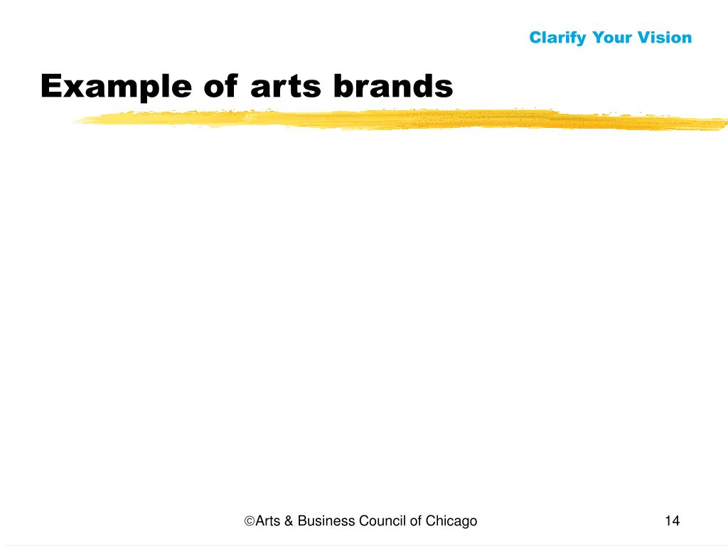 Example of arts brands