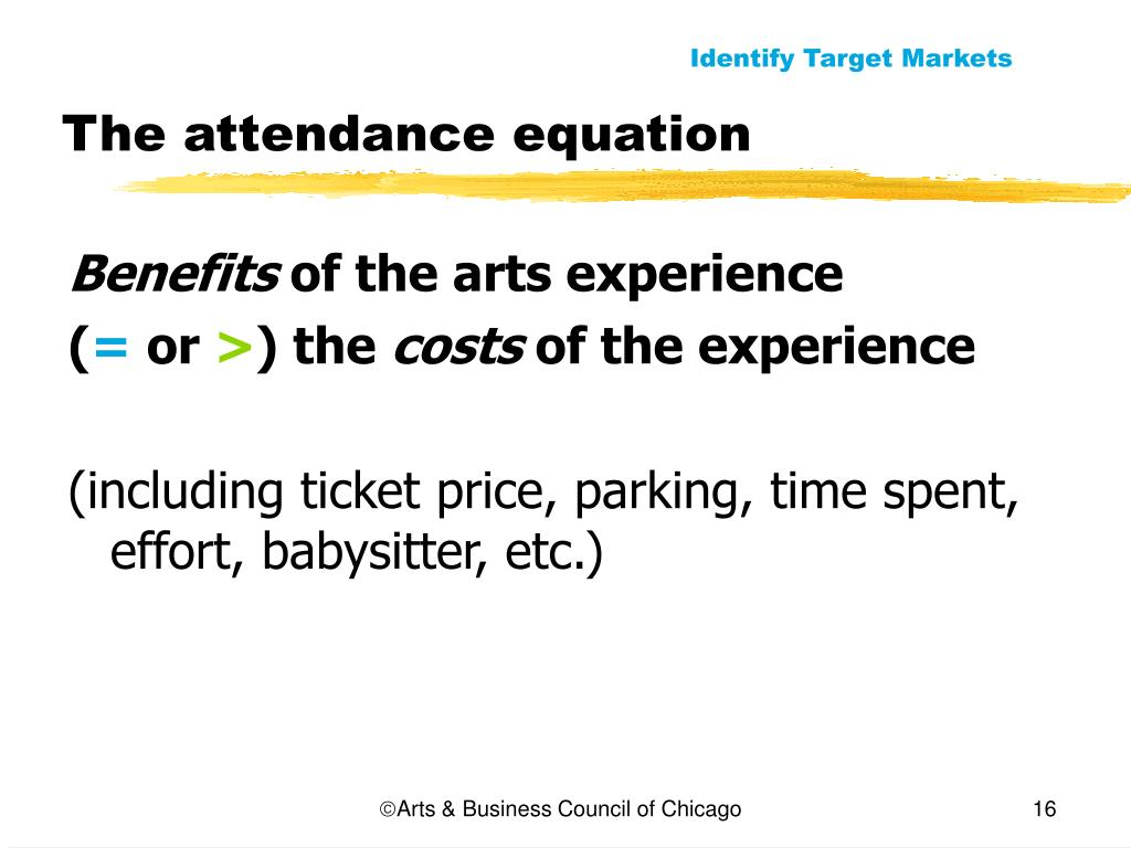 The attendance equation