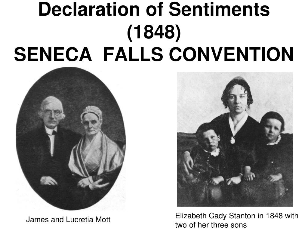 declaration of sentiments analysis by elizabeth stanton The declaration of sentiments and resolutions was drafted by elizabeth cady stanton for the women's rights convention at seneca falls, new york in 1848 based on the.