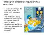 pathology of temperature regulation heat exhaustion