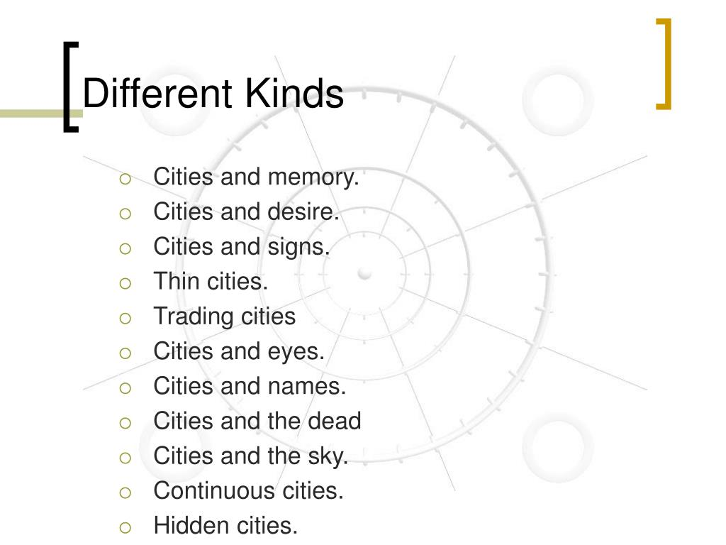 Different Kinds