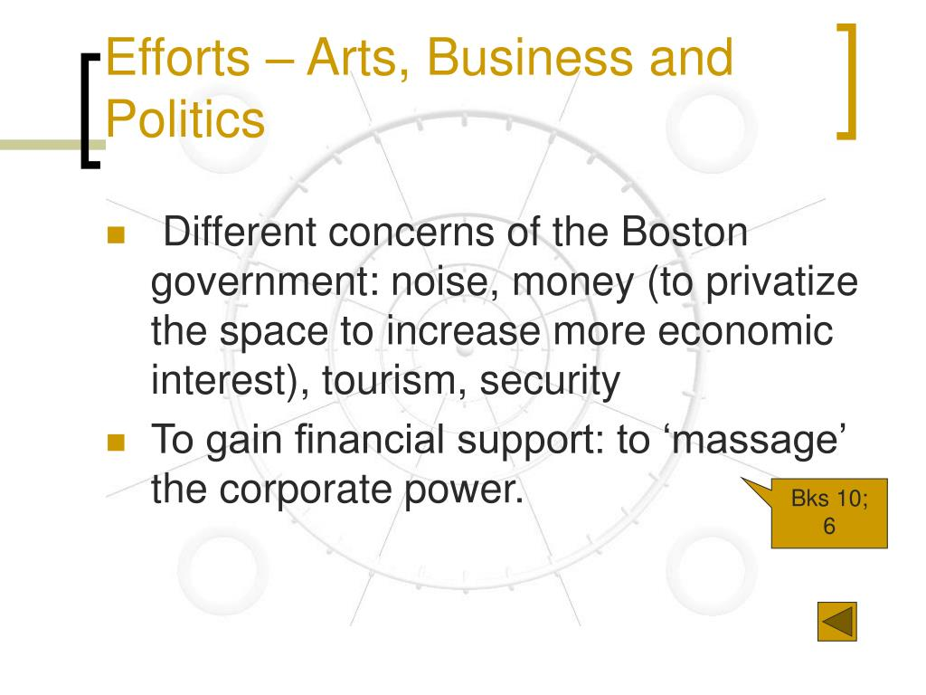Efforts – Arts, Business and Politics