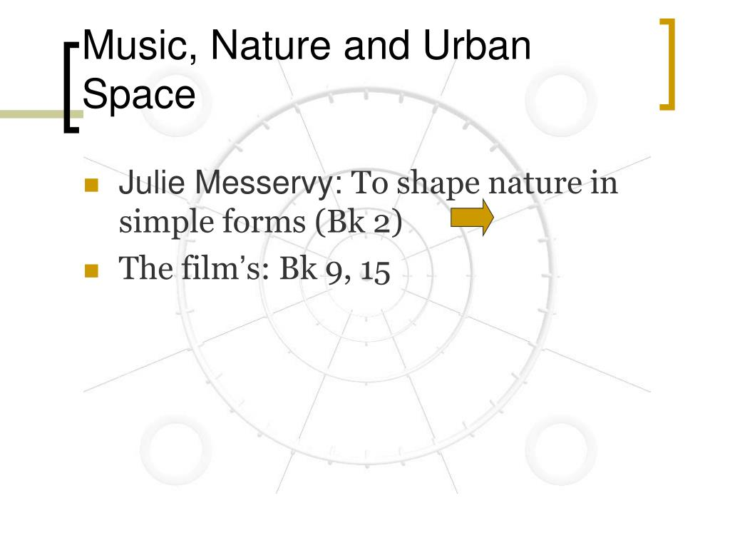 Music, Nature and Urban Space