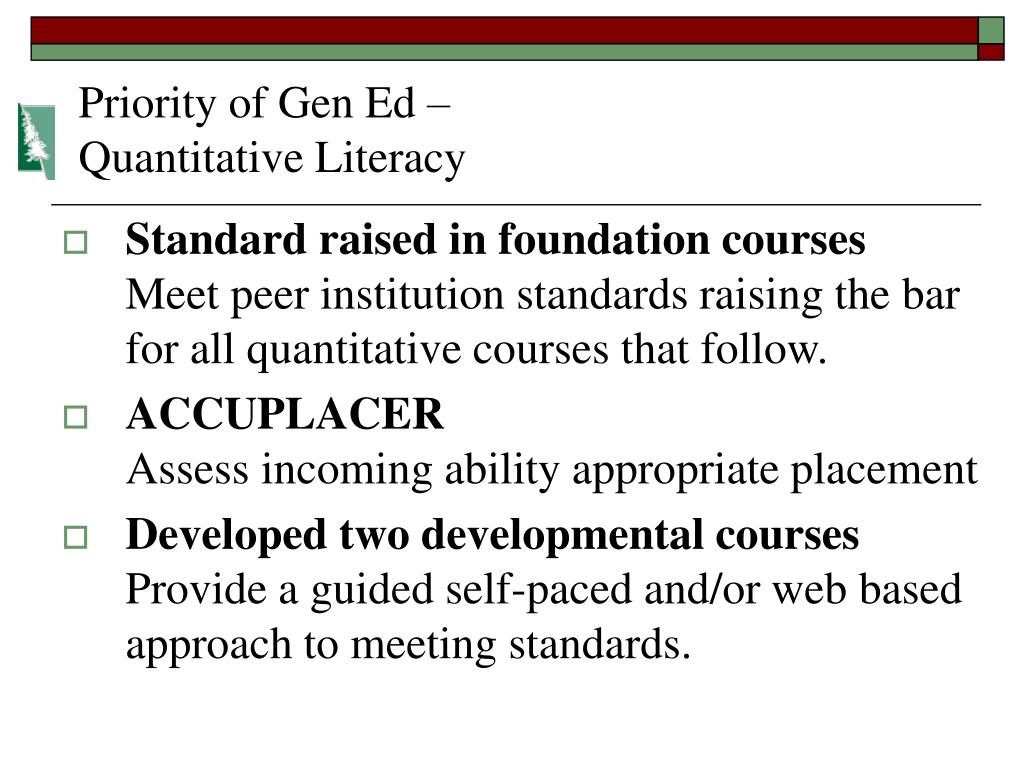 Priority of Gen Ed –