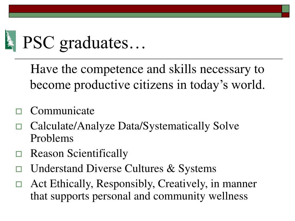 PSC graduates…