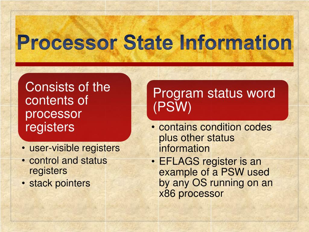 Processor State Information