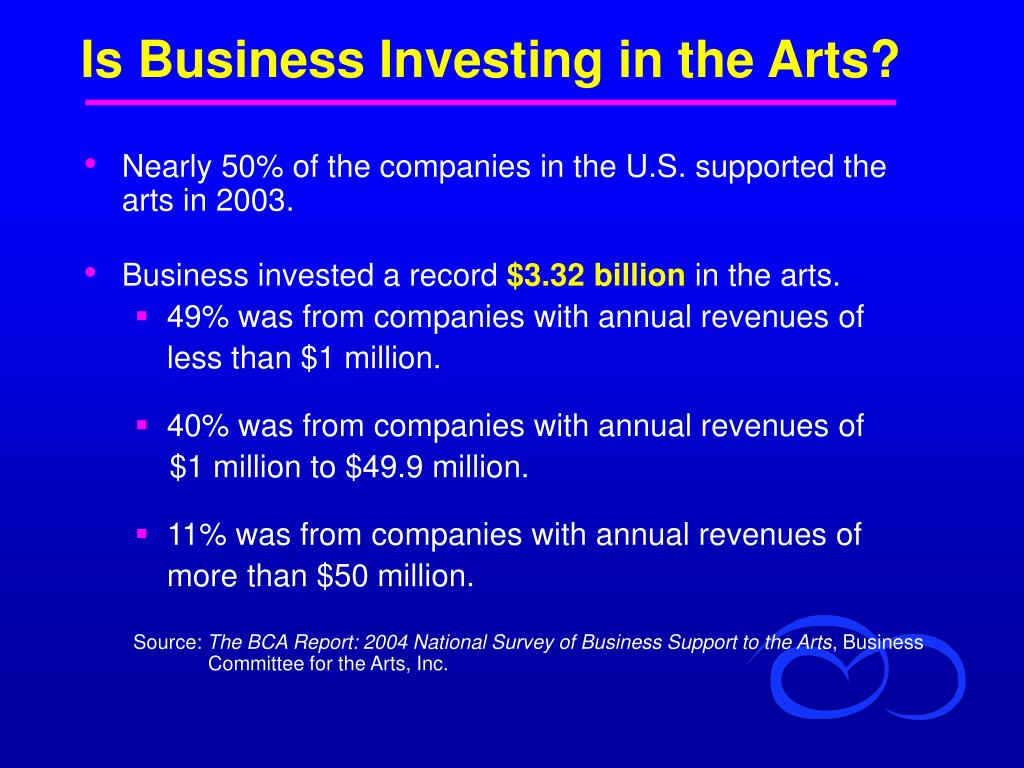 Is Business Investing in the Arts?