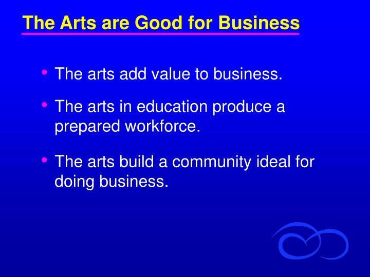 The Arts are Good for Business