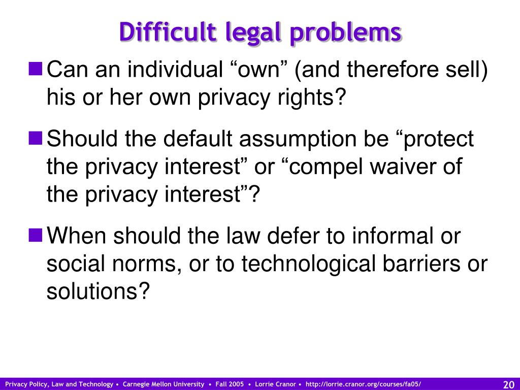 Difficult legal problems