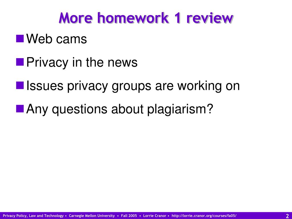 More homework 1 review