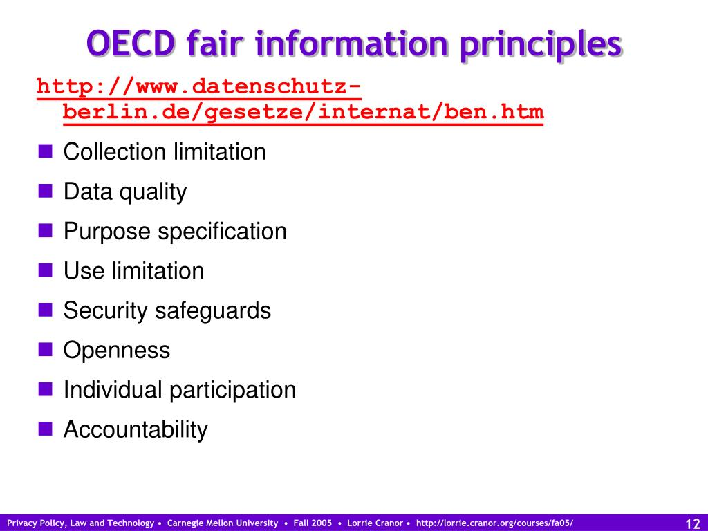 OECD fair information principles