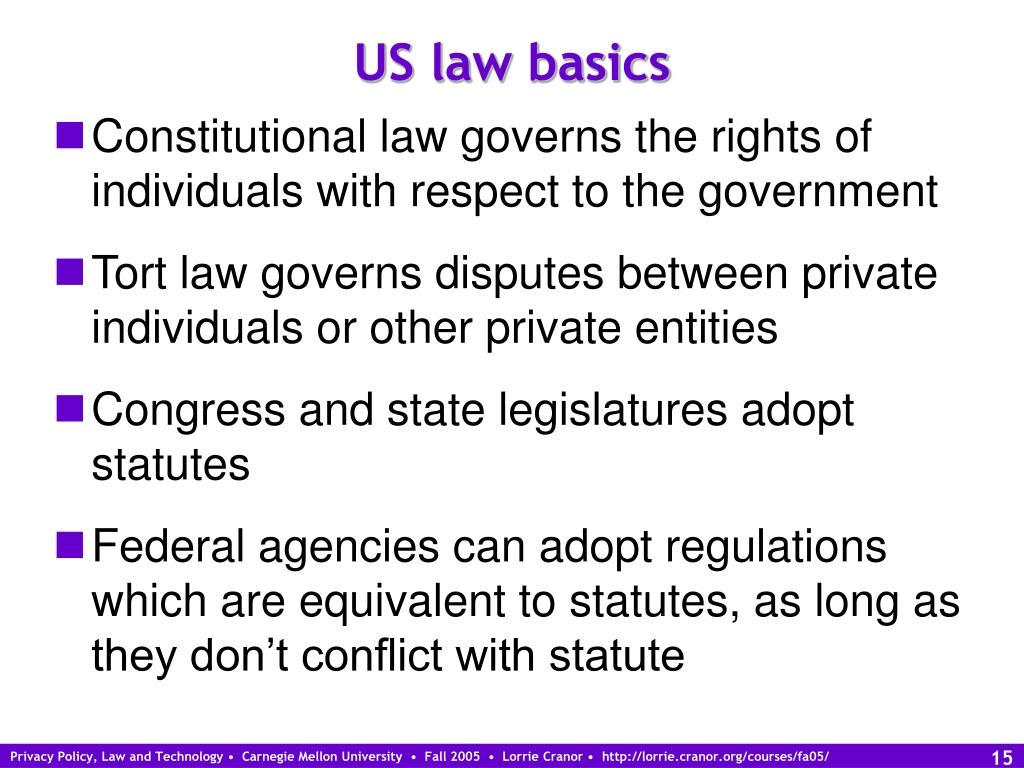 US law basics