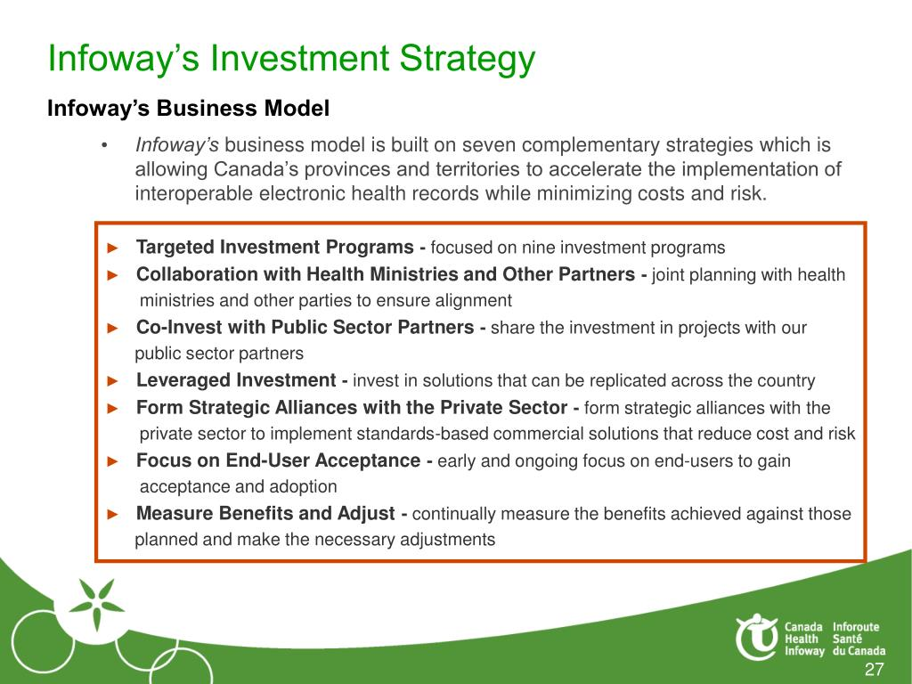 Infoway's Investment Strategy