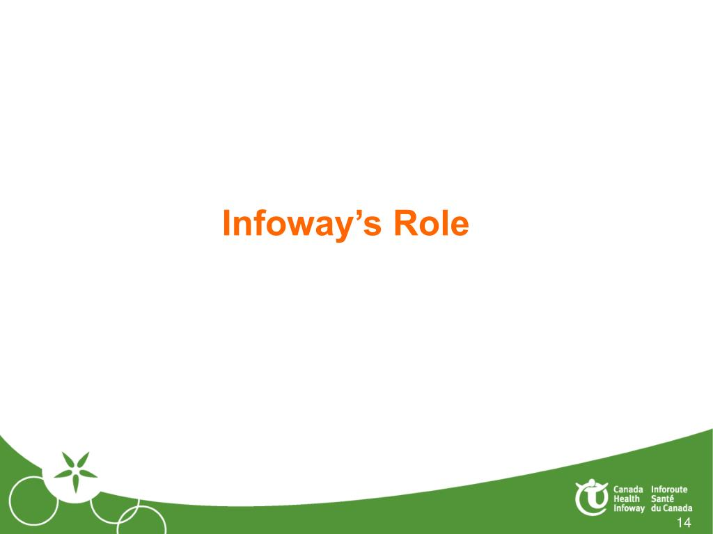 Infoway's Role