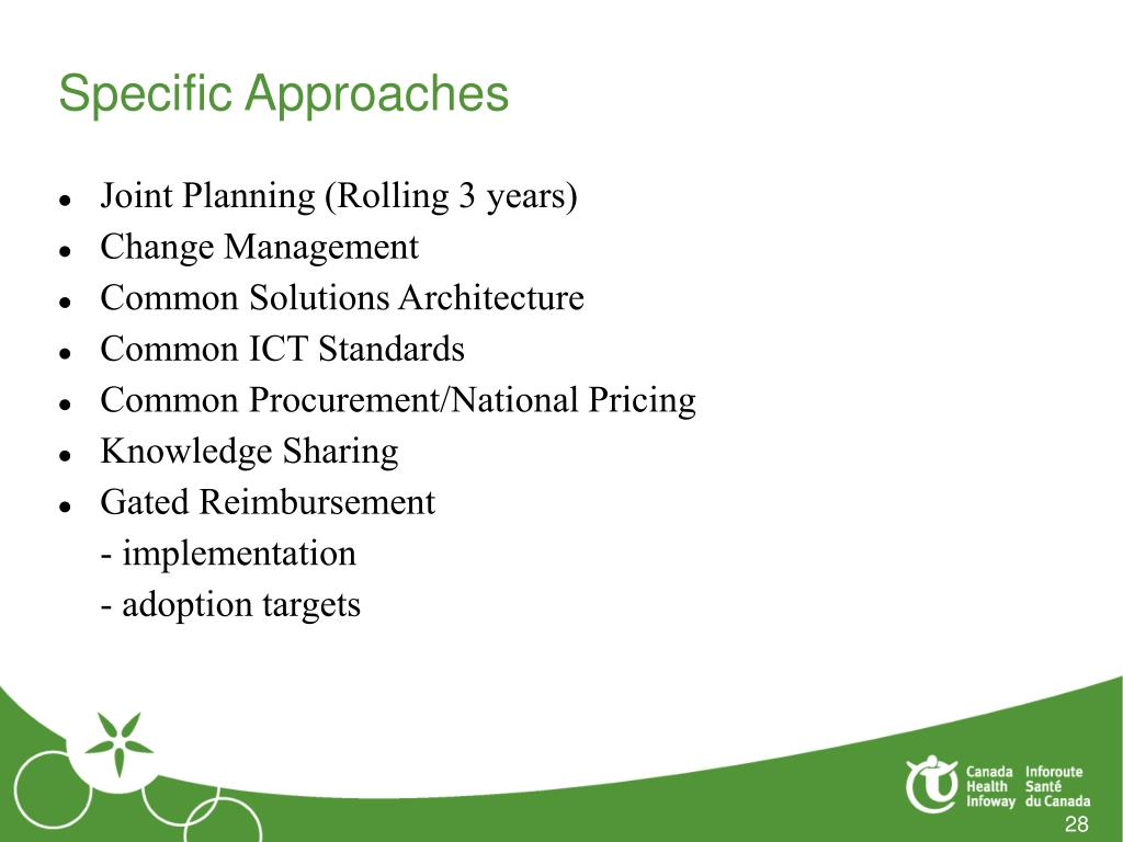Specific Approaches