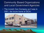 community based organizations and local government agencies7