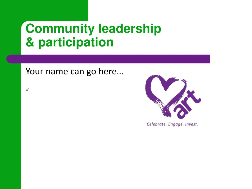 Community leadership