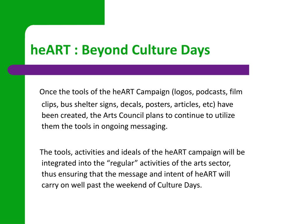 heART : Beyond Culture Days