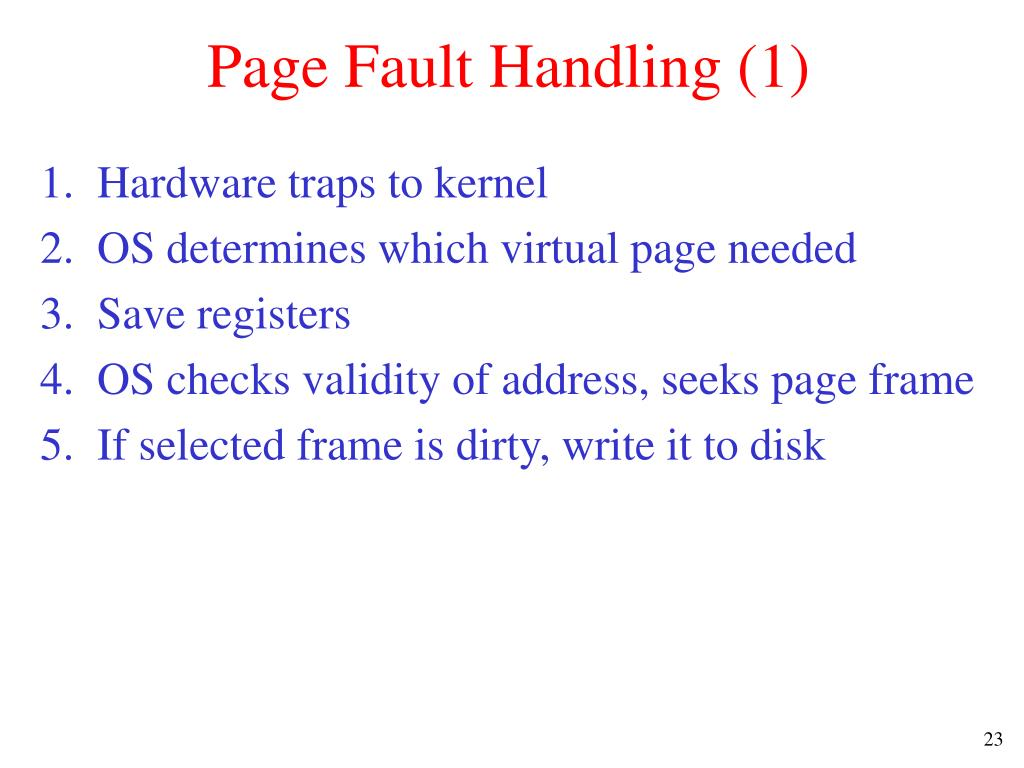 Page Fault Handling (1)