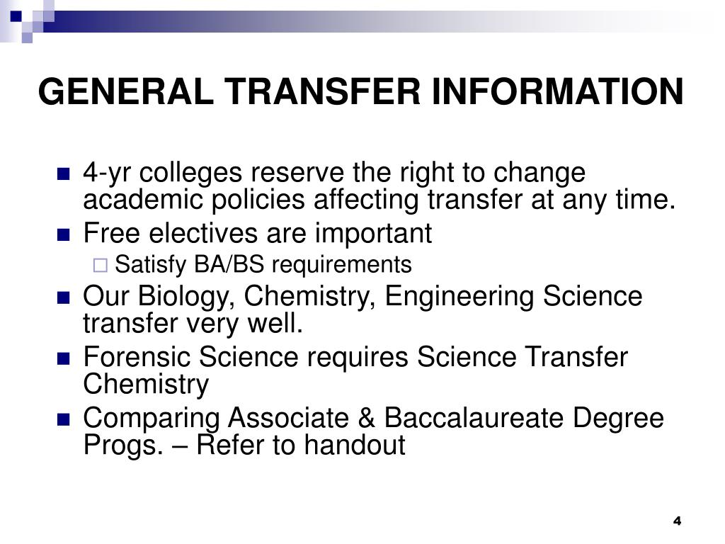 GENERAL TRANSFER INFORMATION