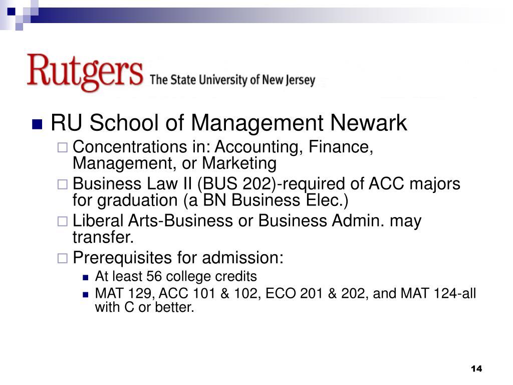 RU School of Management Newark