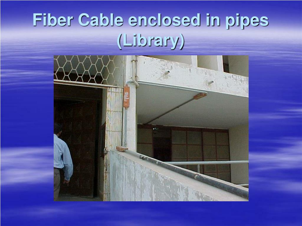 Fiber Cable enclosed in pipes (Library)