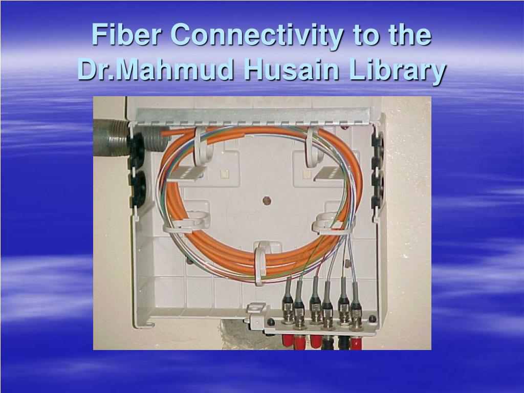 Fiber Connectivity to the Dr.Mahmud Husain Library