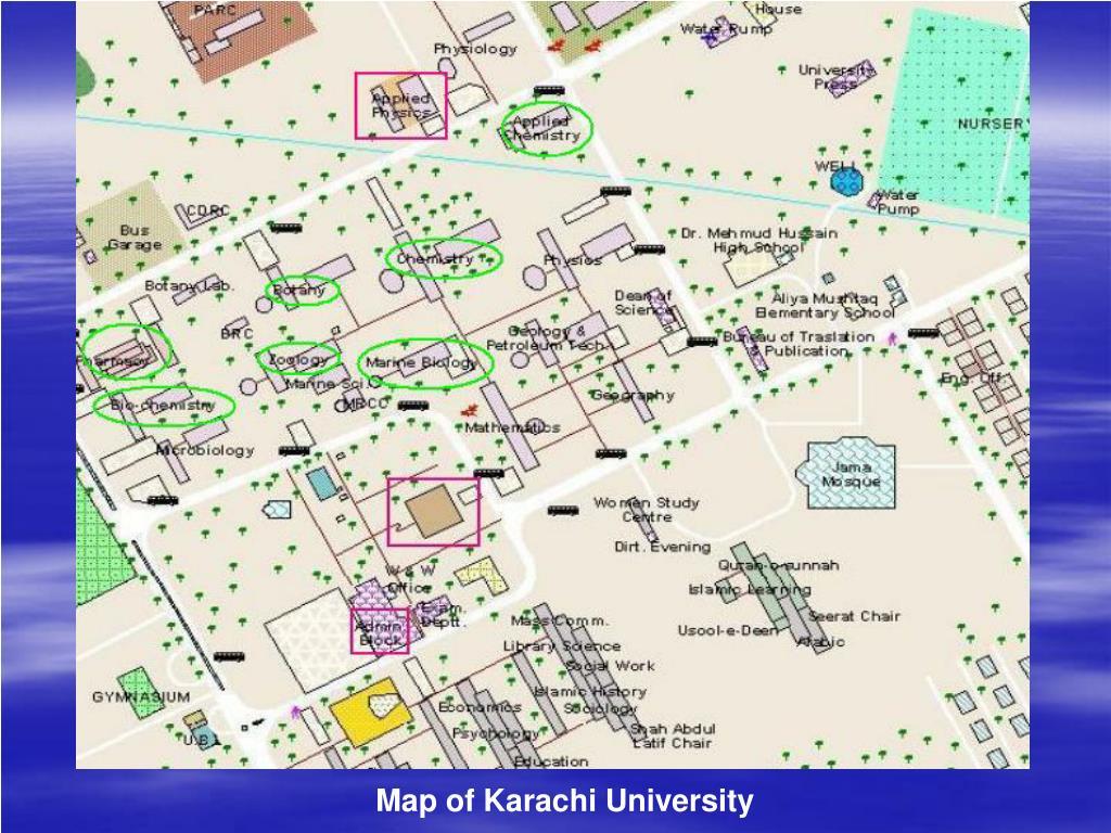 Map of Karachi University