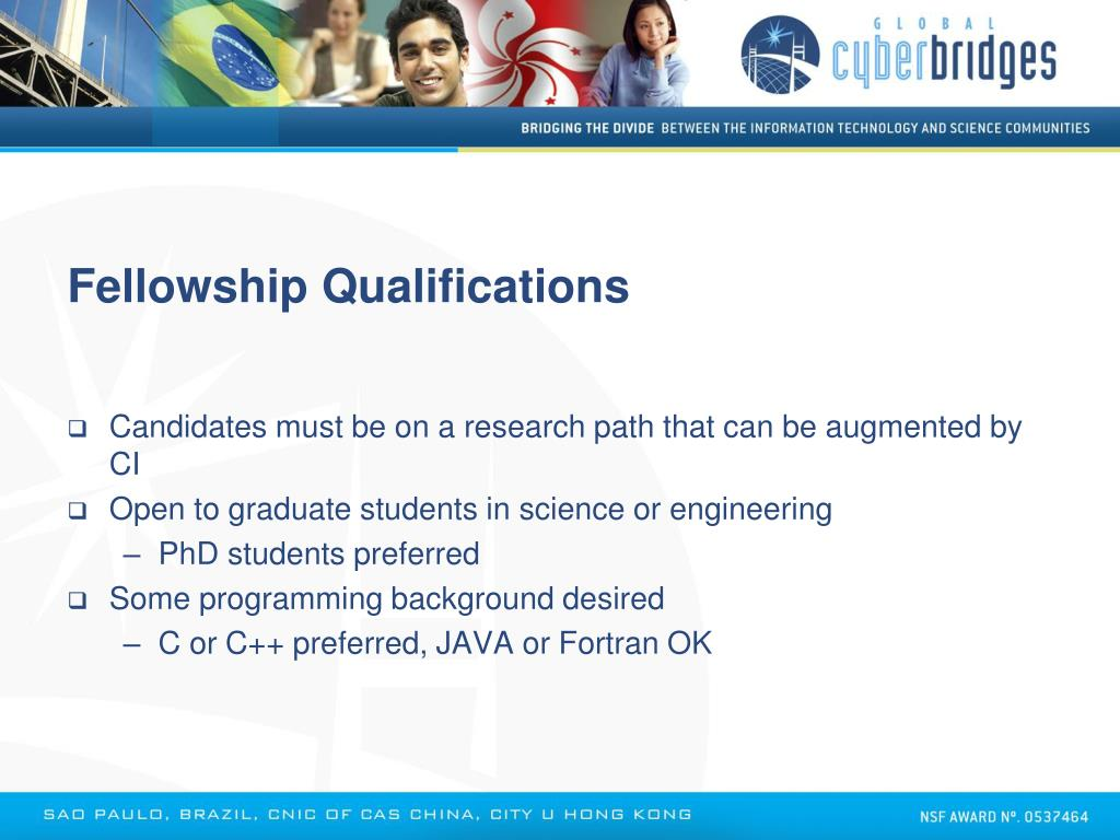 Fellowship Qualifications