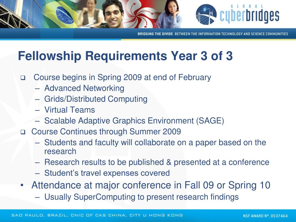 Fellowship Requirements Year 3 of 3