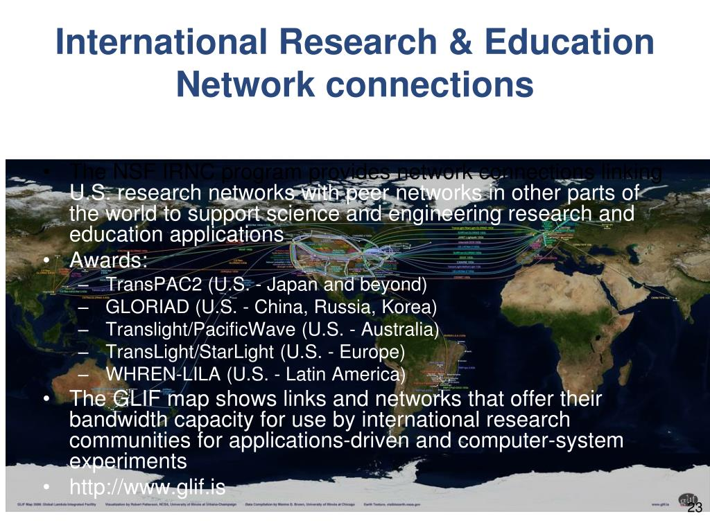 International Research & Education Network connections