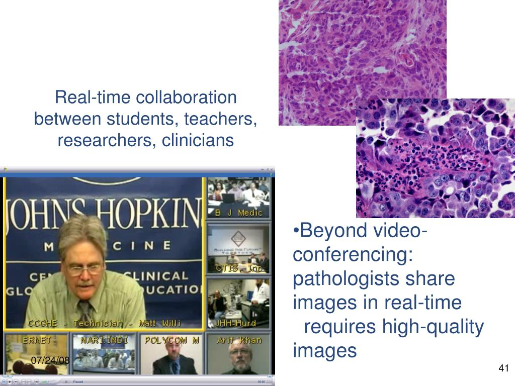Real-time collaboration between students, teachers, researchers, clinicians