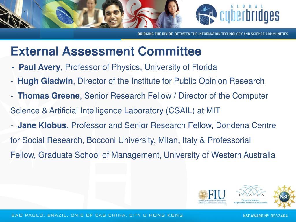 External Assessment Committee