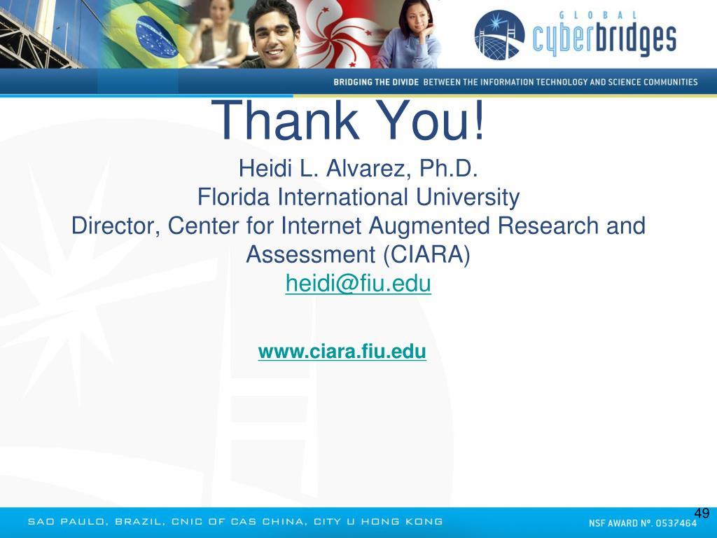 Heidi L. Alvarez, Ph.D.