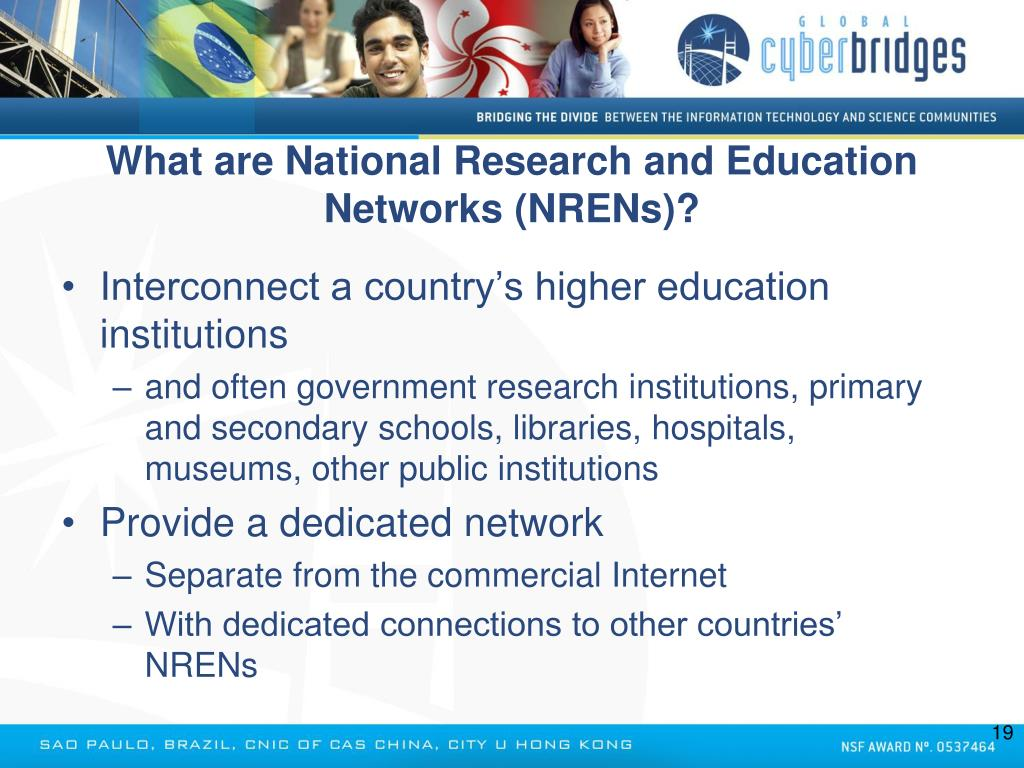 What are National Research and Education Networks (NRENs)?