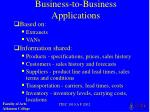 business to business applications