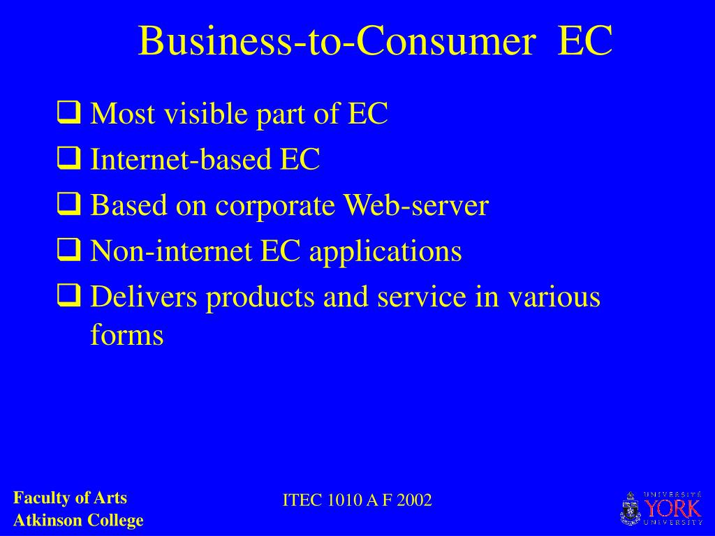 Business-to-Consumer  EC