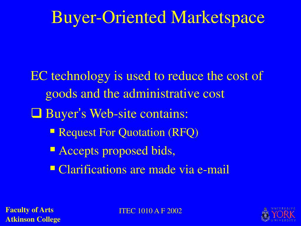 Buyer-Oriented Marketspace